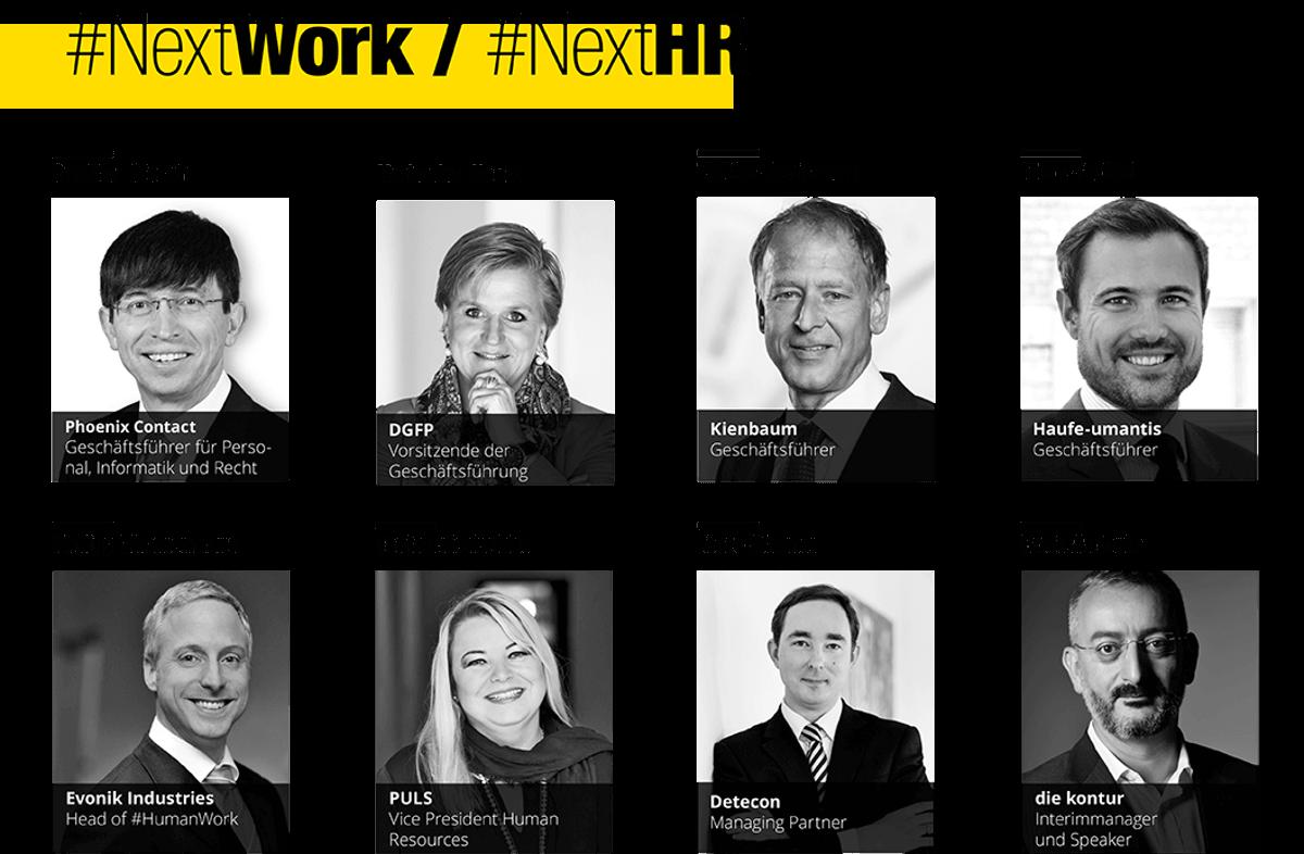 Einige Partner zu dem Thema #NextWork / NextHR