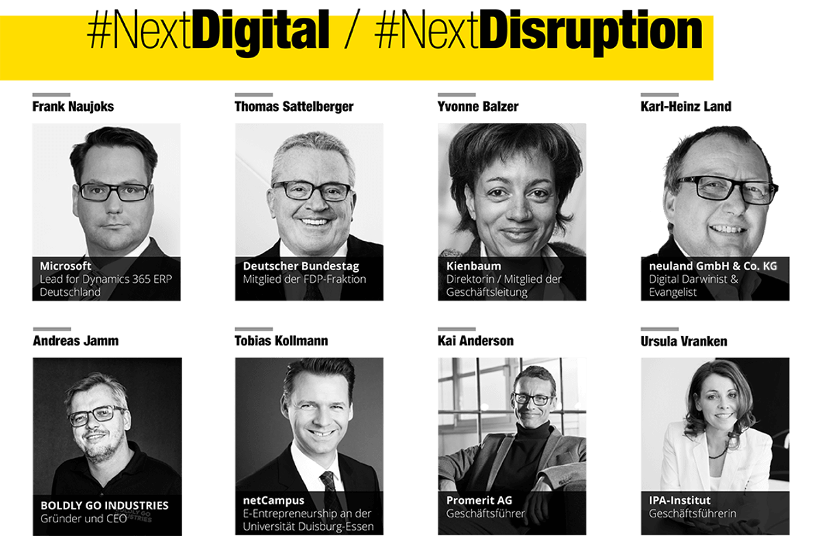 Einige Partner zu dem Thema #NextDigital / NextDisruption