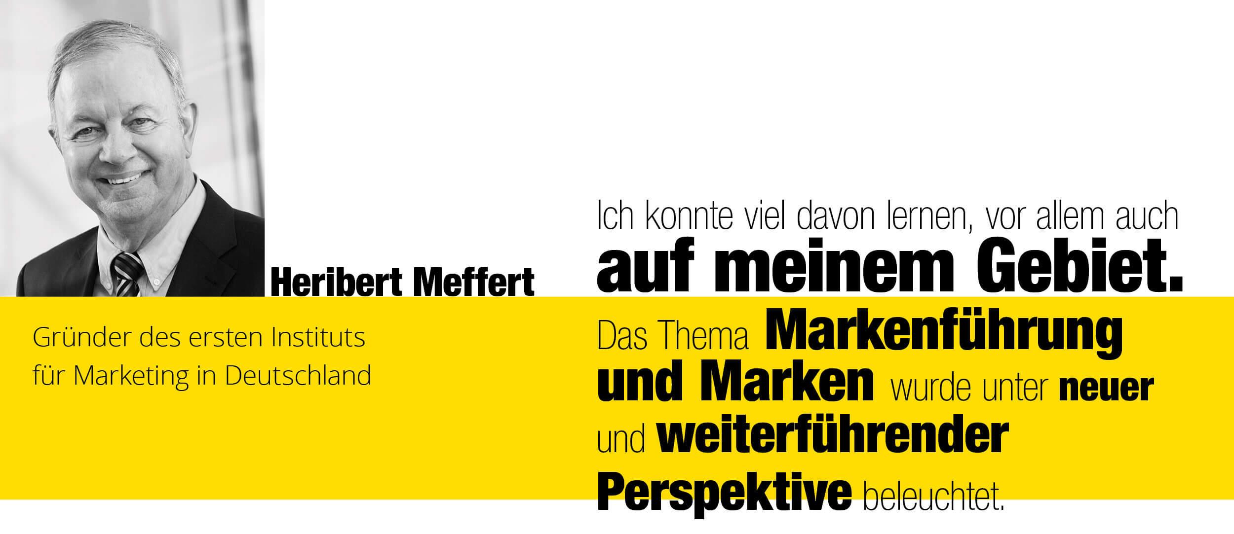 Zitat von Heribert Meffert